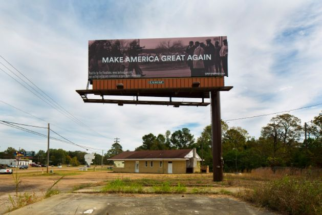 50 States, 50 Billboards - For Freedoms with Spider Martin - Pearl, Mississippi, 2016