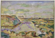 Georges Braque, Landscape near Antwerp, 1906, Solomon R. Guggenheim Museum, New York Thannhauser Collection, Gift, Justin K. Thannhauser 78.2514.1 © 2018 Artists Rights Society (ARS), New YorkADAGP, Paris