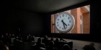 Christian Marclay, Installation view of The Clock, 2010. Courtesy of the artist