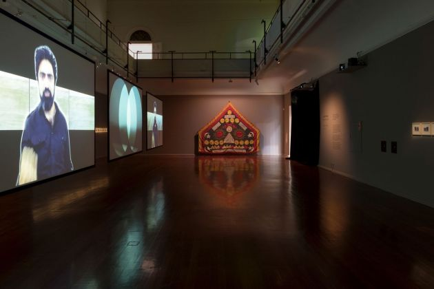 Khaled Sabsabi, A Self Portrait, 2018. Courtesy the artist & Perth Institute of Contemporary Arts. Installation view at Perth Institute of Contemporary Arts, 2018. Photo Khaled Sabsabi