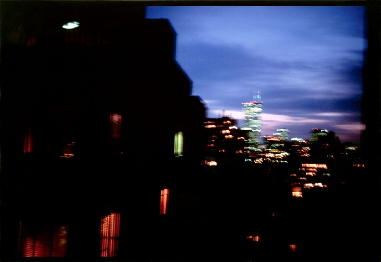Nan Goldin, Night vision from my apartment of World Trade Center, NYC, 2001. Courtesy Eredi di Alessandro Grassi
