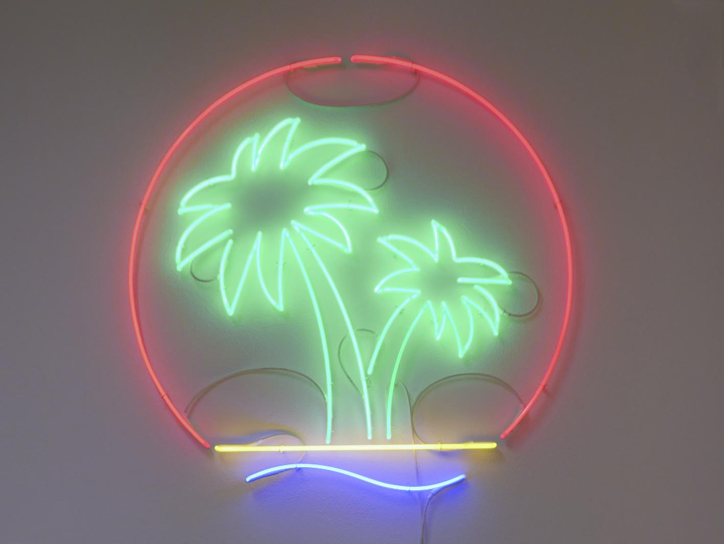Ryts Monet, Palm Oil (Neon), 2016, Courtesy Galleria Michela Rizzo