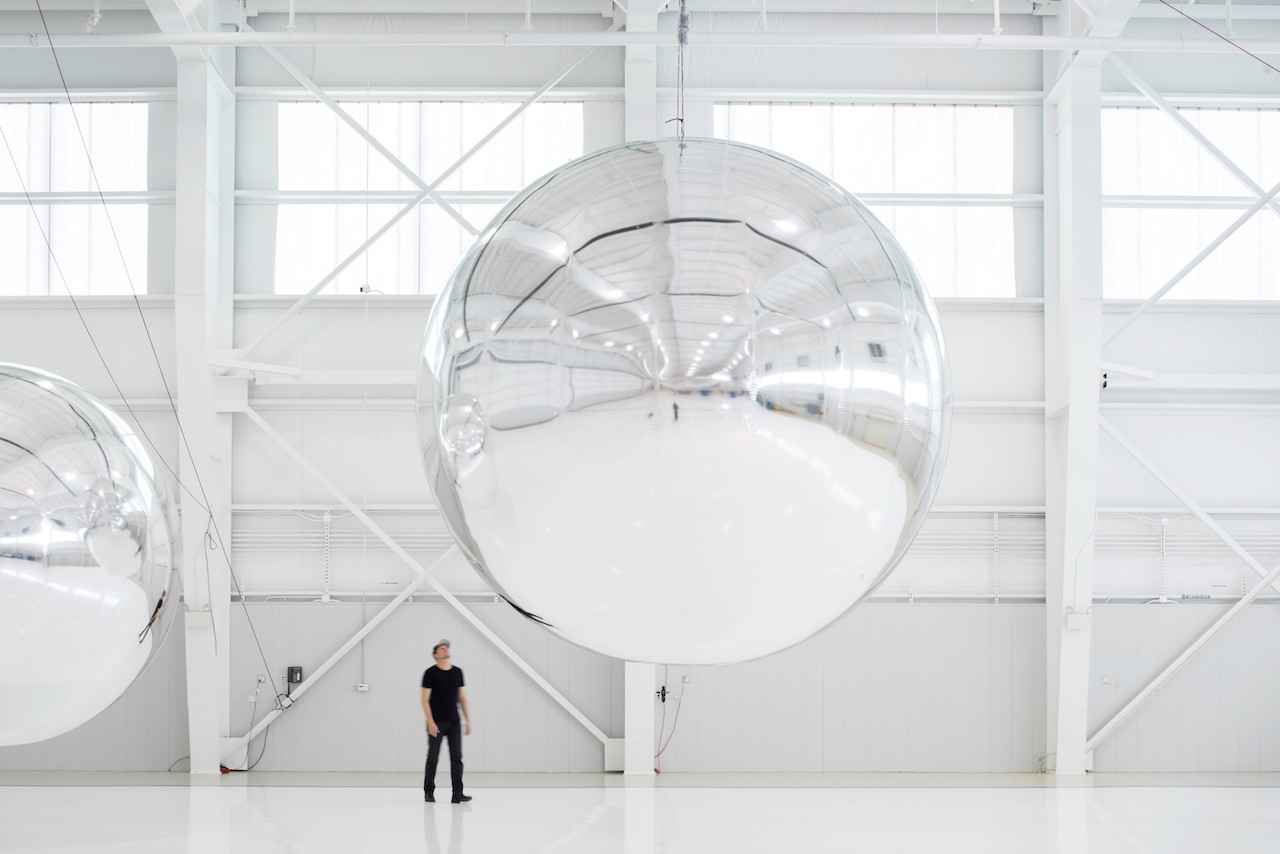 Trevor Paglen, Prototype for a Nonfunctional Satellite (Design 4; Build 4), 2013, Mixed media, 16 x 16 x 16 feet. Courtesy of Altman Siegel Gallery and Metro Pictures, 2013