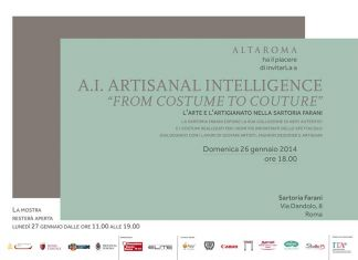 A.I. Artisanal Intelligence – From costume to couture