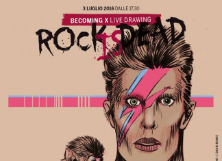 Rock is dead. Becoming X – Live drawing