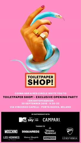 Opening party Toiletpaper Shop
