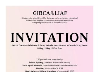 GIBCA & LIAF 2017 Venice Reception