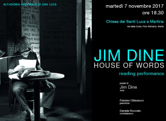 Jim Dine – House of words – Reading/Performance