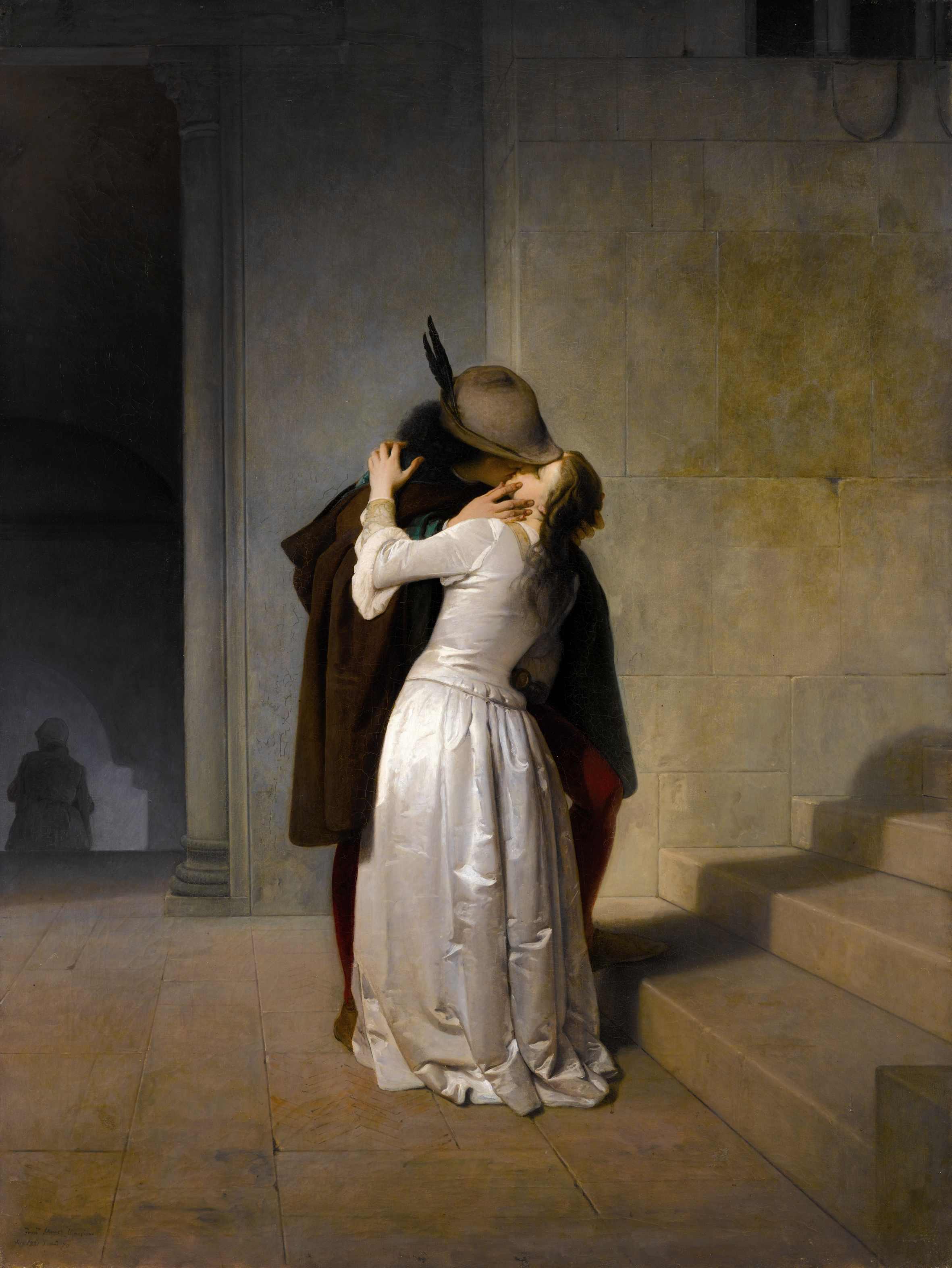 Francesco Hayez, Il bacio, 1859. Milano, Pinacoteca di Brera
