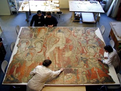 Il processo di restauro di un dipinto murale - Museo  Statale Ermitage, San Pietroburgo