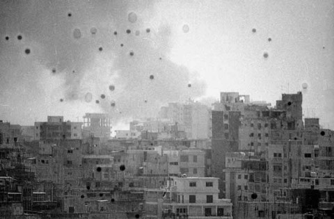Walid Raad/Atlas Group, We Decided To Let Them Say We Are Convinced Twice. It Was More Convincing This Way, Beirut '82, Plane III, 2005 (Courtesy the artist and Sfeir-Semler Gallery, Hamburg/Beirut)