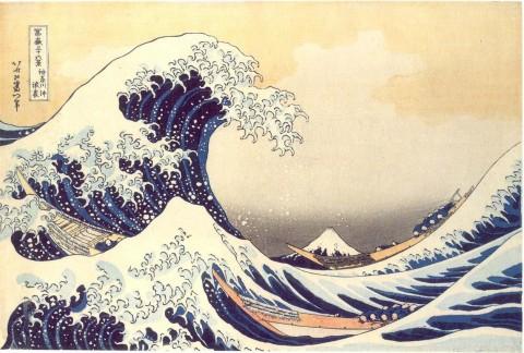 La celeberrima onda di Hokusai