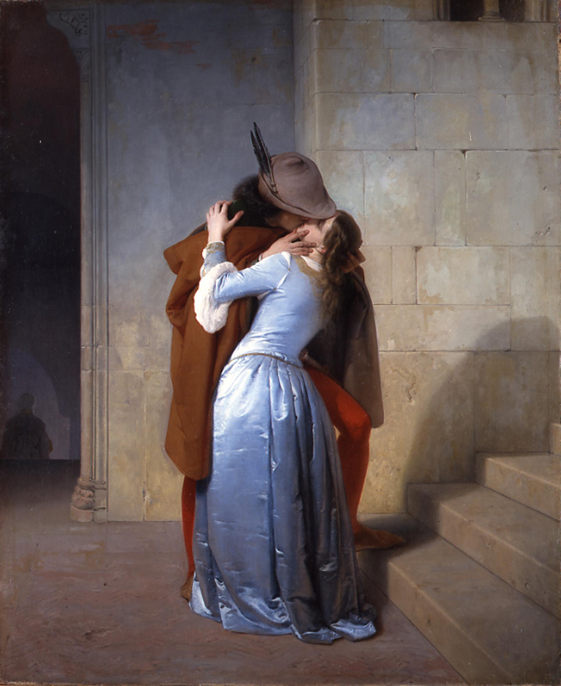 Francesco Hayez - Il bacio - 1859 - Milano, Pinacoteca di Brera
