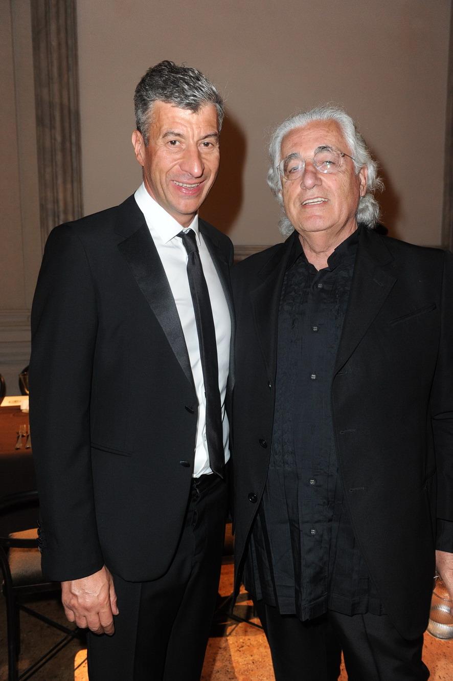 Maurizio Cattelan e Germano Celant