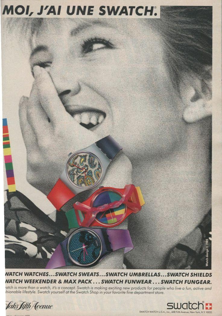 Una vecchia pubblicità Swatch