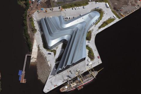 Il Riverside Museum, a Glasgow, progettato da Zaha Hadid