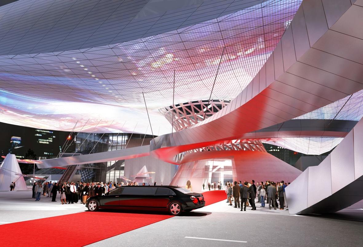 Busan Cinema Center, Sud Corea (20052011) - progetto Coop Himmelb(l)au - modello tridimensionale - © COOP HIMMELB(L)AU 2