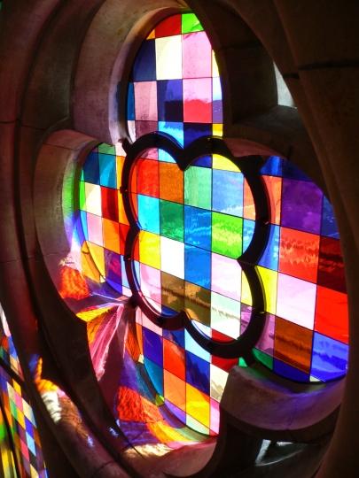 dettaglio delle vetrate di Gerhard Richter, nella Cattedrale di Colonia