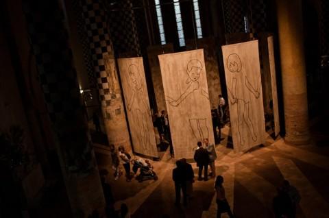 Valerio Berruti – La rivoluzione terrestre - inaugurazione della mostra presso la Chiesa di San Domenico, Alba 2011