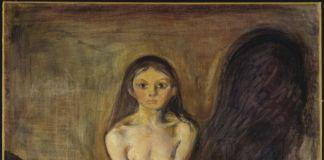 Edvard Munch, La pubertà, 1894-95, olio su tela, 151,5×110 cm. Galleria nazionale, Oslo