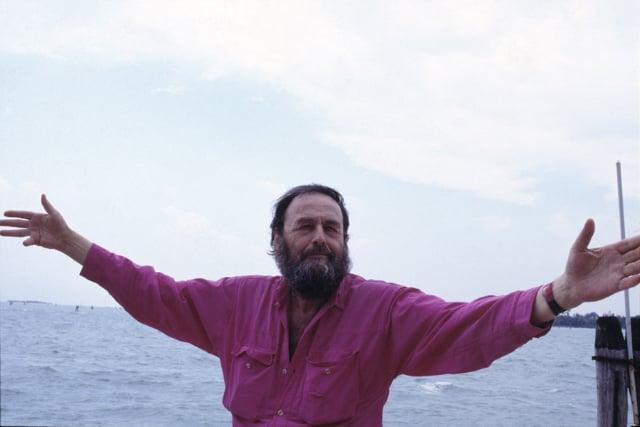 Harald Szeemann a Venezia, giugno 1999 (foto Elio Montanari)