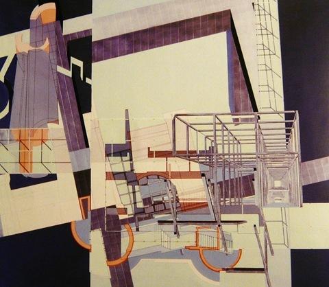 Un'opera di Franco Purini attualmente in mostra all'Accademia di San Luca