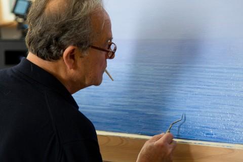 Nunzio Massimo Nifosì - Piero Guccione. Verso l'infinito - photo dal set di Gianni Mania
