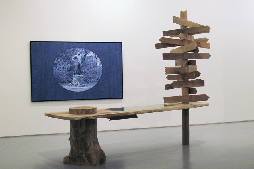 David Robbins - The Lift Trilogy - veduta della mostra presso la Galleria Raucci/Santamaria, Napoli 2011 - photo E. Velo