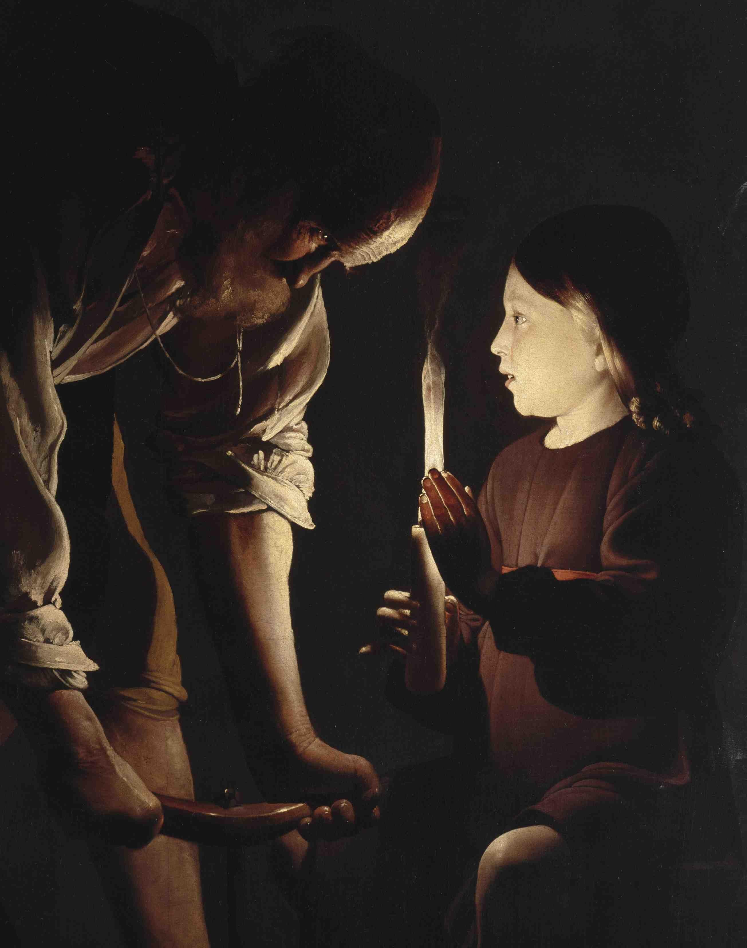 Georges de La Tour - Saint Joseph charpentier - Parigi, Musée du Louvre (particolare)