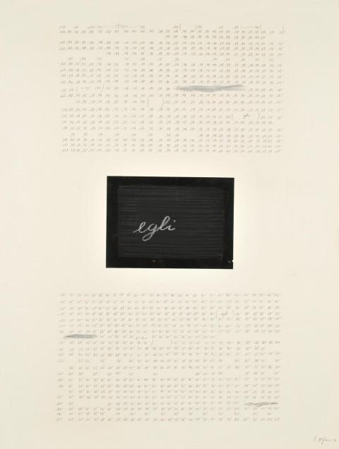 Carlo Alfano - Untitled - 1979 - matita e collage su carta
