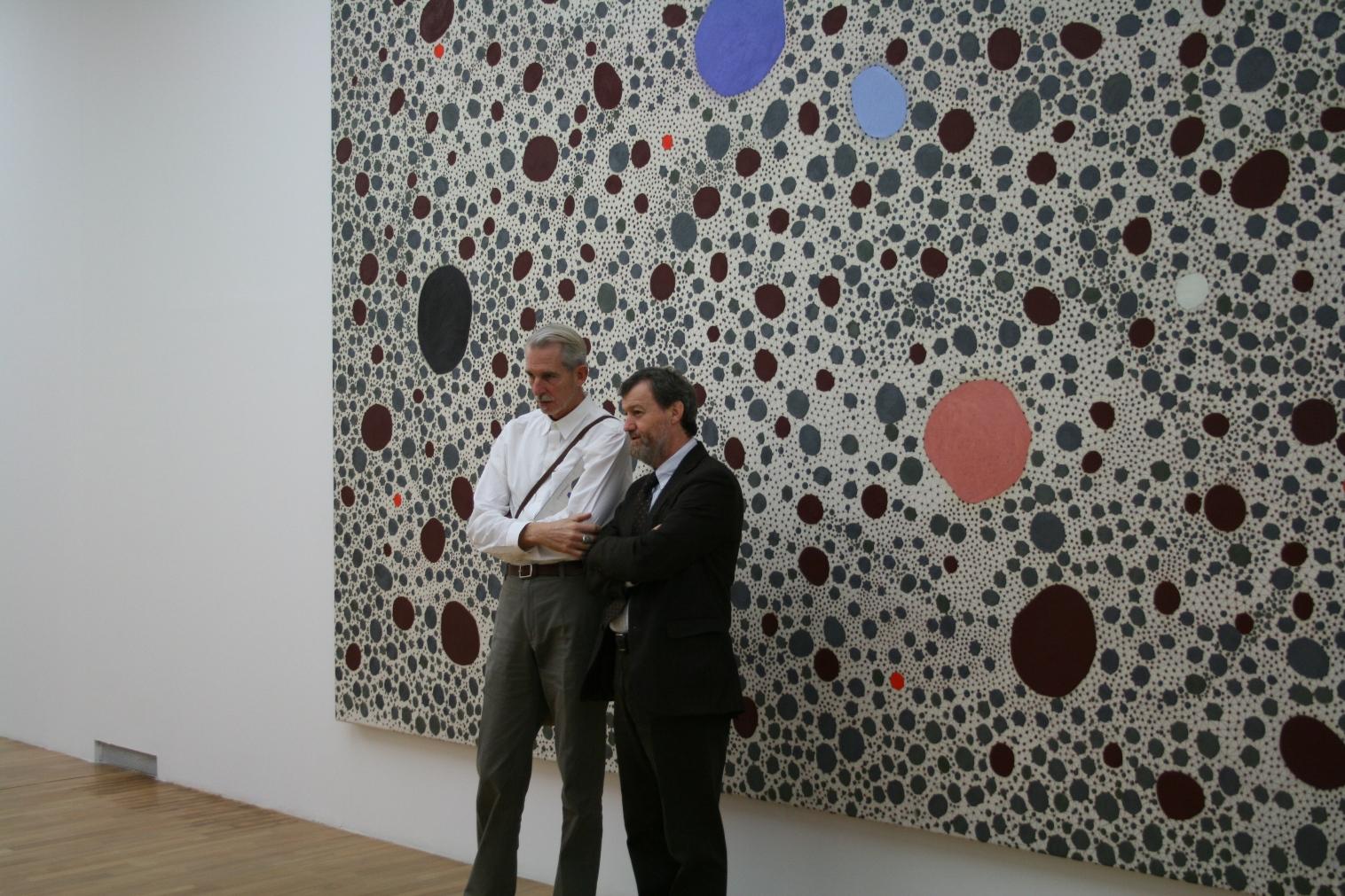 James Brown e Danilo Eccher alla mostra della GAM, Torino 2011
