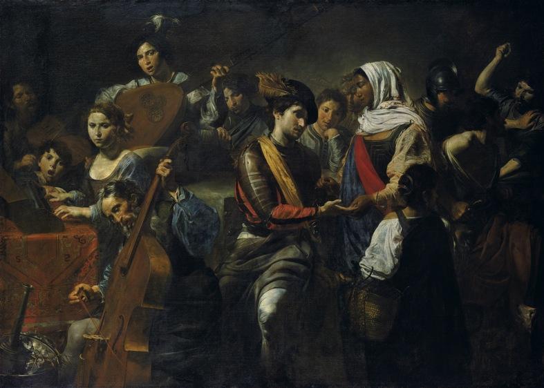 Jean Valentin de Boulogne (Gianbologna) – Allegoria con chiromante (1631) – Liechtenstein Museum