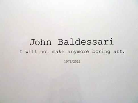 John Baldessari - I will not make any more boring art - veduta della mostra presso Le Case d'Arte, Milano 2011