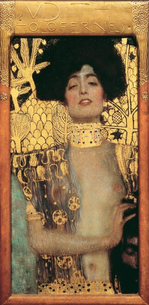 Gustav Klimt, Giuditta I, 1901, olio su tela, 84×42 cm. Österreichische Galerie Belvedere, Vienna