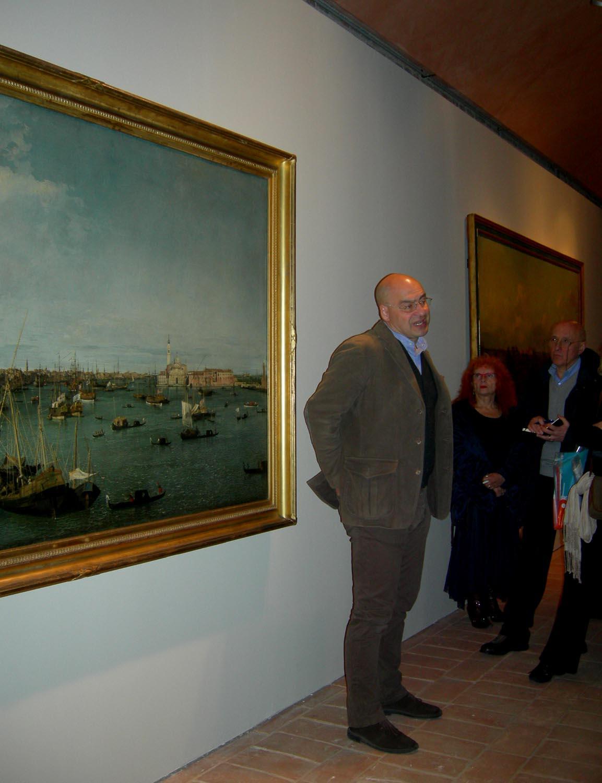 Marco Goldin durante la presentazione della mostra Da Vermeer a Kandinsky. Capolavori dai musei del mondo a Rimini - Castel Sismondo, Rimini 2012