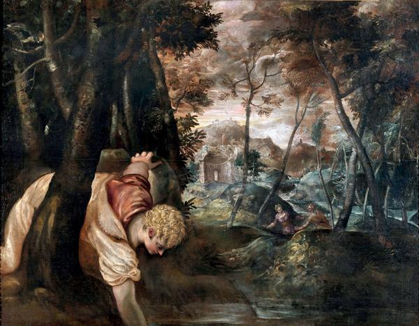 Jacopo Robusti detto Tintoretto, Narciso, 1550-60 ca. Roma, Galleria Colonna