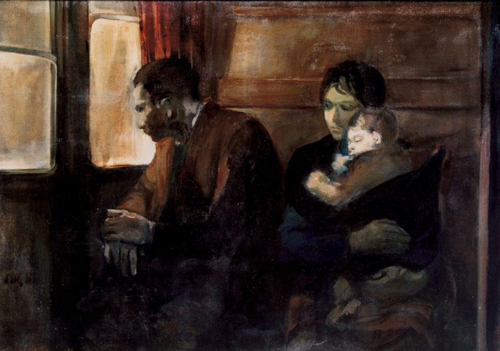 Alberto Sughi, Famiglia di emigranti, 1955