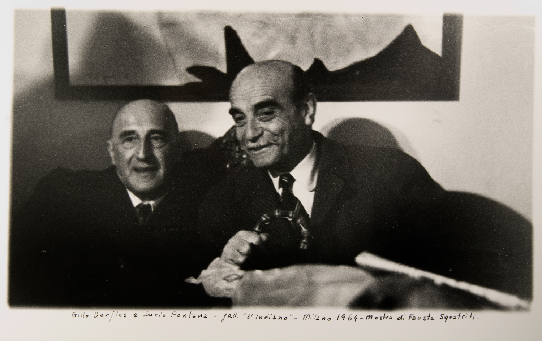 Gillo Dorfles e Lucio Fontana nel 1964
