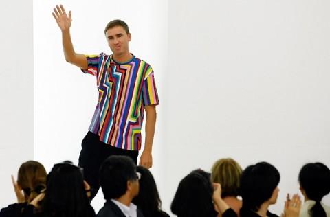 L'addio di Raf Simons a Jil Sander, durante la settimana della moda milanese, febbraio 2012