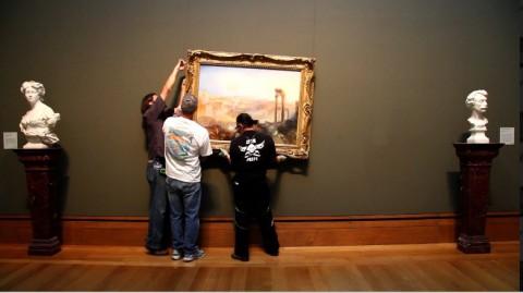 Un'opera di Turner viene posizionata al Getty Museum