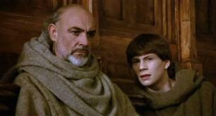 Sean Connery e Christian Slater ne Il nome della rosa