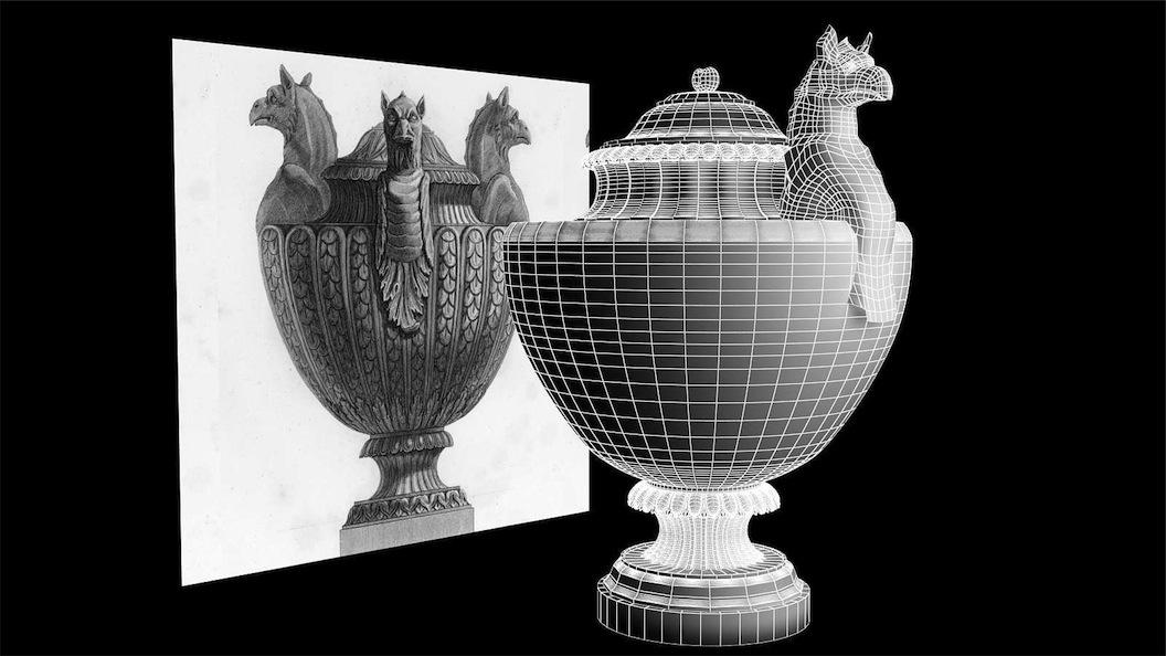 Piranesi vaso antico di marmo che si vede in inghilterra for Vasi antichi romani