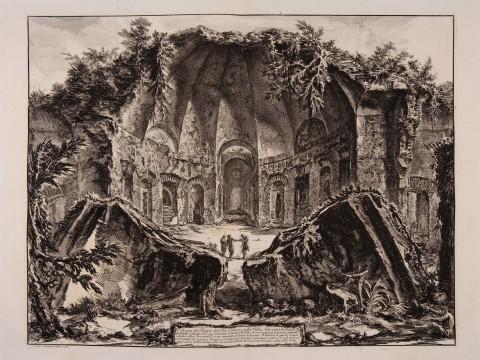 Giovan Battista Piranesi - Resti del tempio del dio Canope , Villa Adriana a Tivoli. Vedute di Roma - Fondazione Giorgio Cini, Venezia
