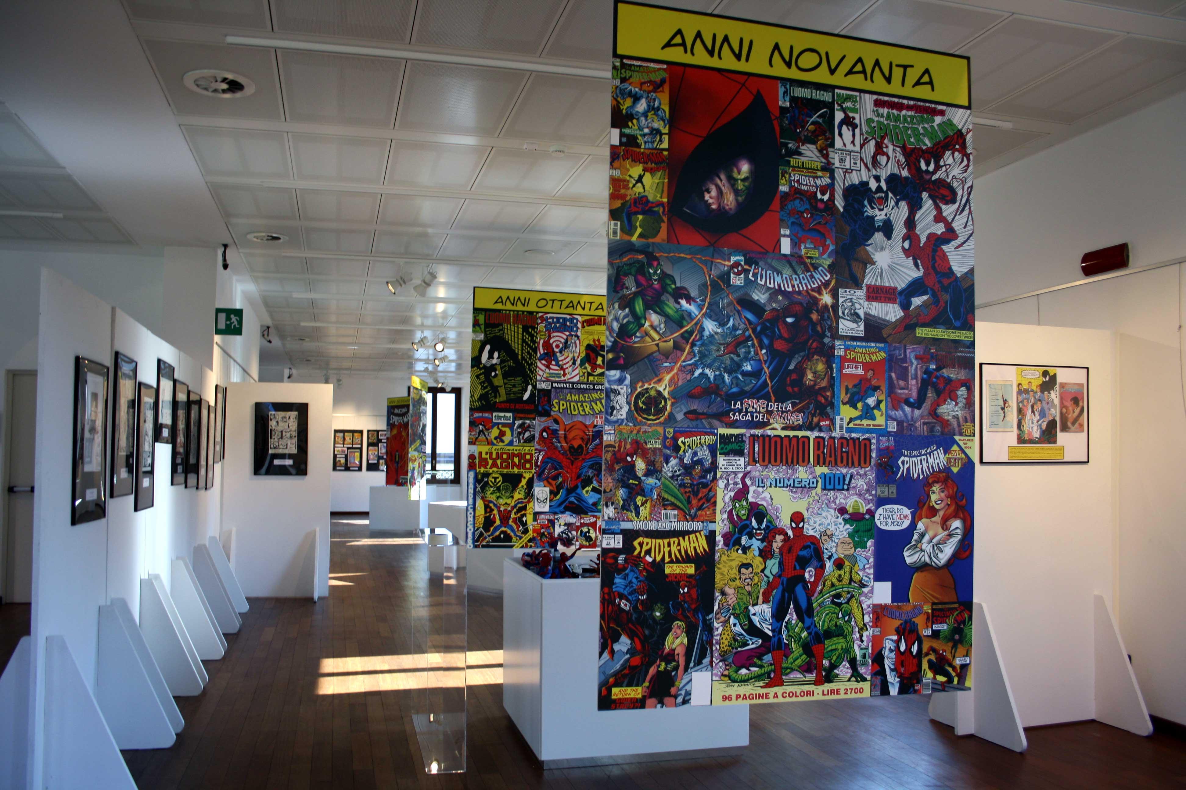 Spider-Man. Il mito dell'Uomo Ragno - veduta della mostra presso WOW Spazio Fumetto, Milano 2012