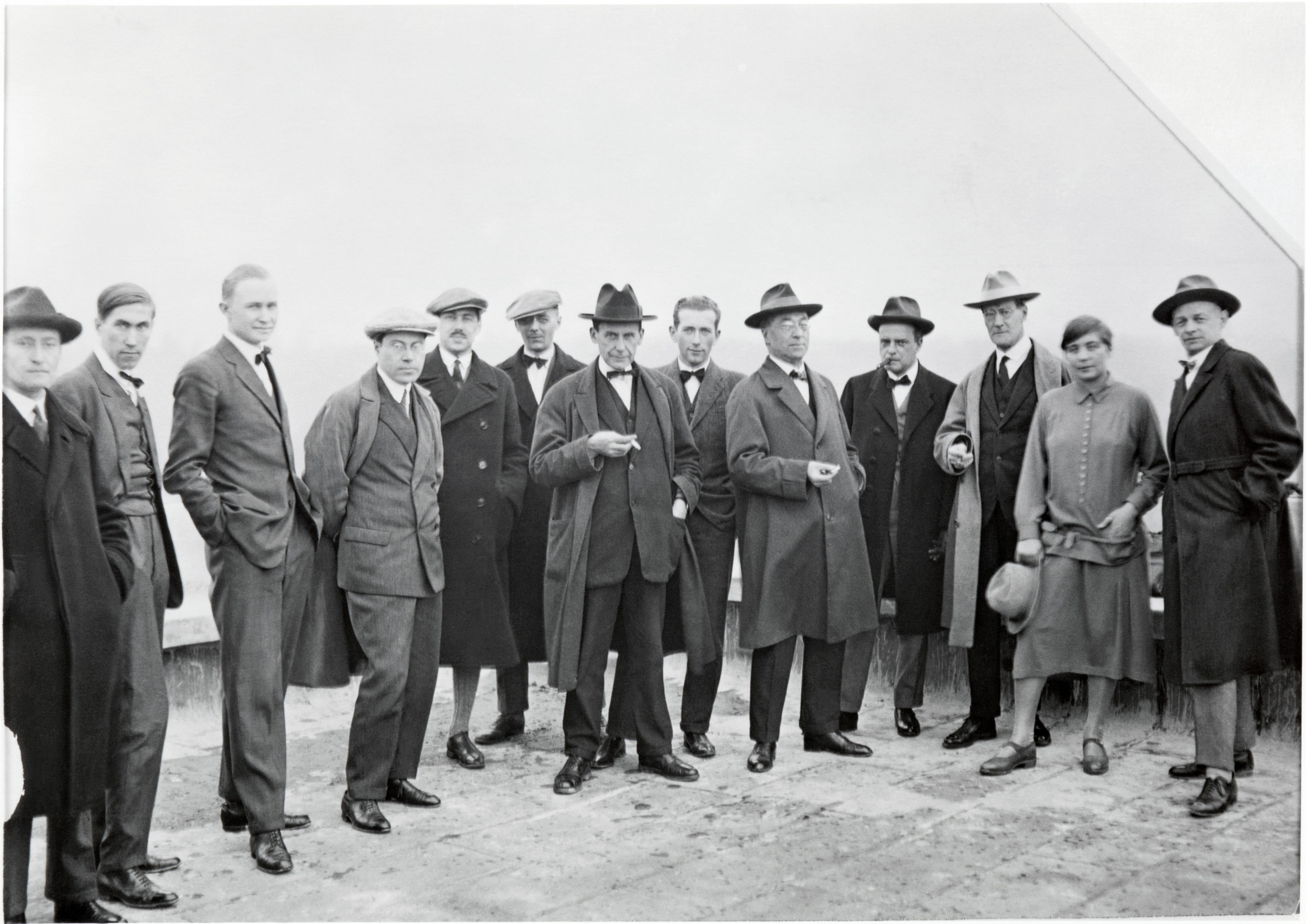 Bauhaus - Walter Gropius and masters on the roof