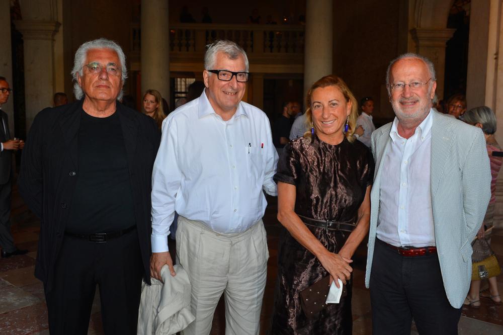 Germano Celant, Patrizio Bertelli, Miuccia Prada e GiorgioOrsoni