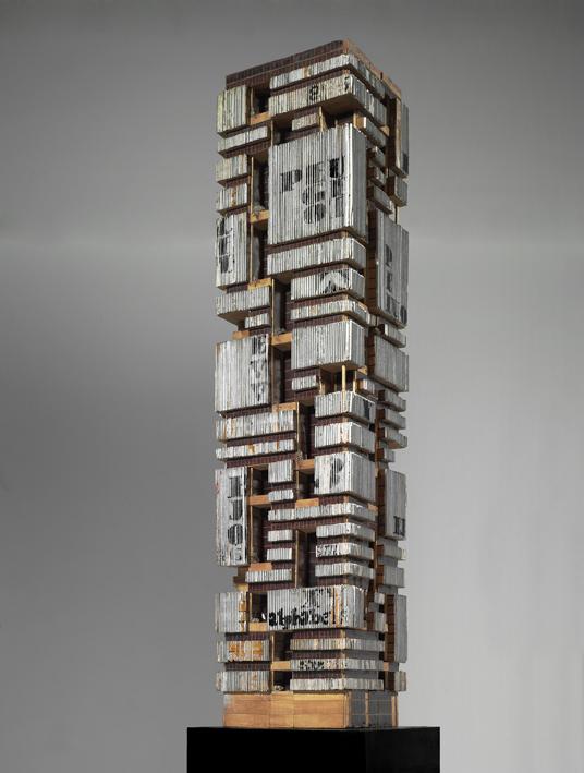 Maurizio Sacripanti, Modello del Grattacielo Peugeot, Buenos Aires, s.d. Collezione MAXXI Architettura, Fondazione MAXXI Roma