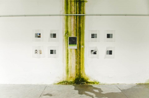 Abitanti Abitati - veduta della mostra presso la ex Fabbrica Visibilia, Taibon Agordino 2012 - photo Giacomo De Donà