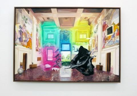 Paolo Chiasera - Màn - veduta della mostra presso la Galleria Francesca Minini, Milano 2012