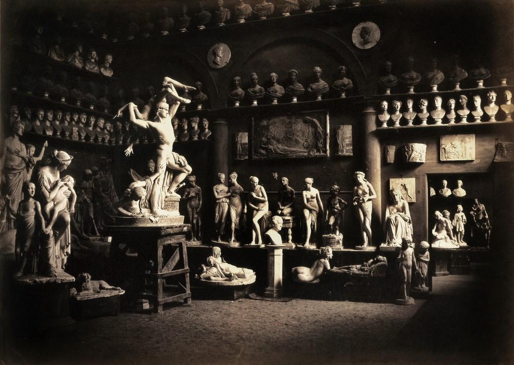 Firenze. Studio dello scultore Lorenzo Bartolini, 1856-57, Raccolte Museali Fratelli Alinari (RMFA), Firenze